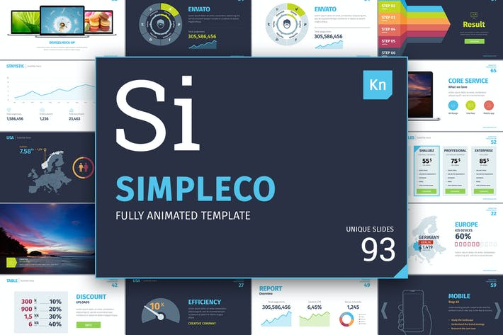Thumbnail for SIMPLECO: Keynote presentation template