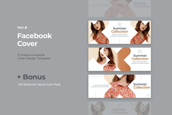 Thumbnail for Facebook Cover Vol.8