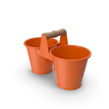 Twin Pot Orange