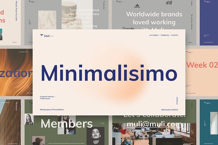 Thumbnail for Muli™ Minimalist Google Slide Presentation
