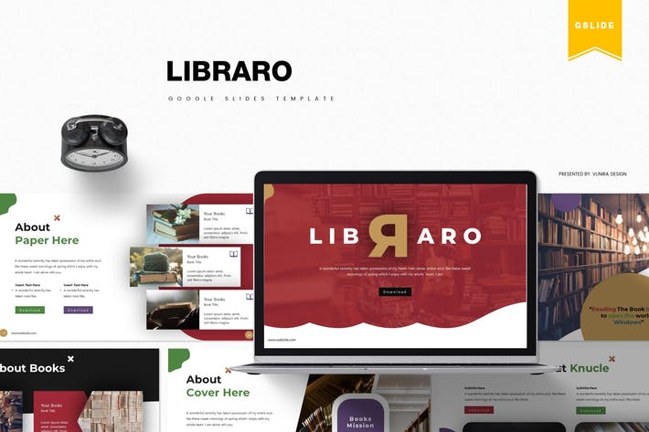 Thumbnail for Libraro | Google Slides Template