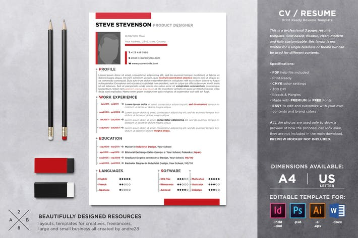 Cover Image For CV Resume & Cover Letter Template