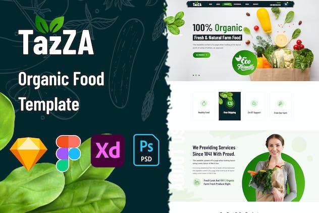 TazZA - Organic Food Template