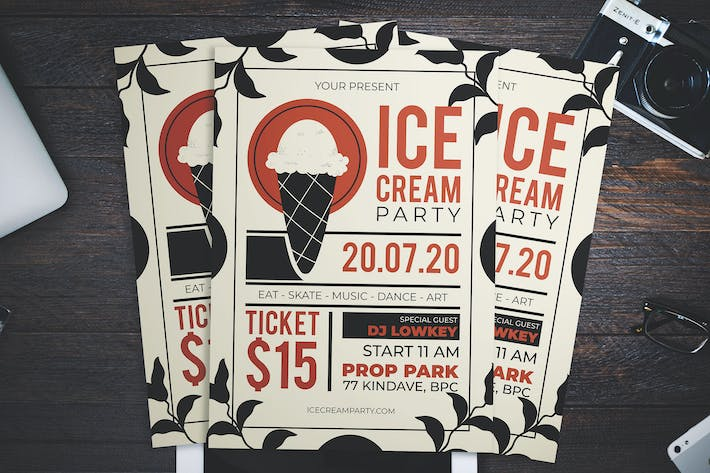 Thumbnail for Ice Cream Party Flyer