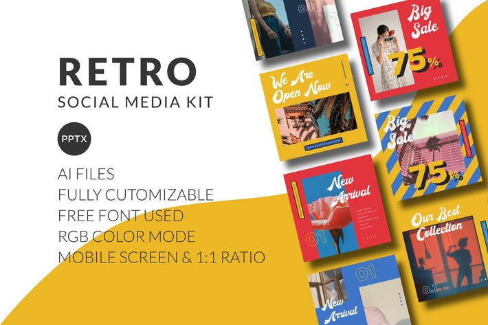 Thumbnail for Retro Social Media Kit