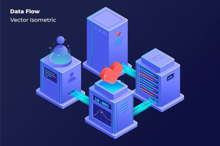 Data Flow - Vector Illustration
