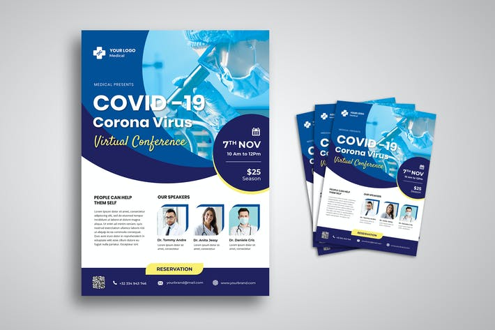 Thumbnail for Corona Covid 19 Campaign Flyer