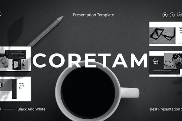 Thumbnail for CORETAM — Творческий бизнес Шаблон слайдов Google
