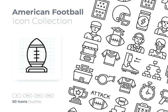 Thumbnail for American Football Umrisssymbol