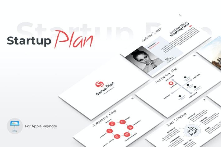 Thumbnail for Startup Plan Keynote Template
