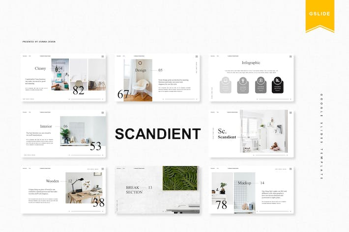 Thumbnail for Scandient | Google Slides Template