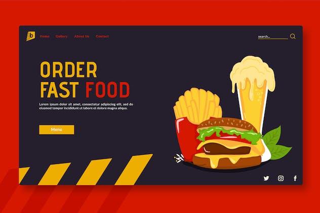Order Fast Food - Landing Page GR