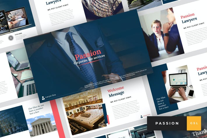Thumbnail for Passion - Lawyer Google Slides Template