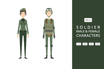 Soldier - Male & Female Characters Vol.16