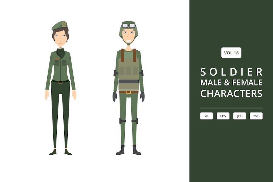 Soldat - Männliche & Weibliche Charaktere Vol.16