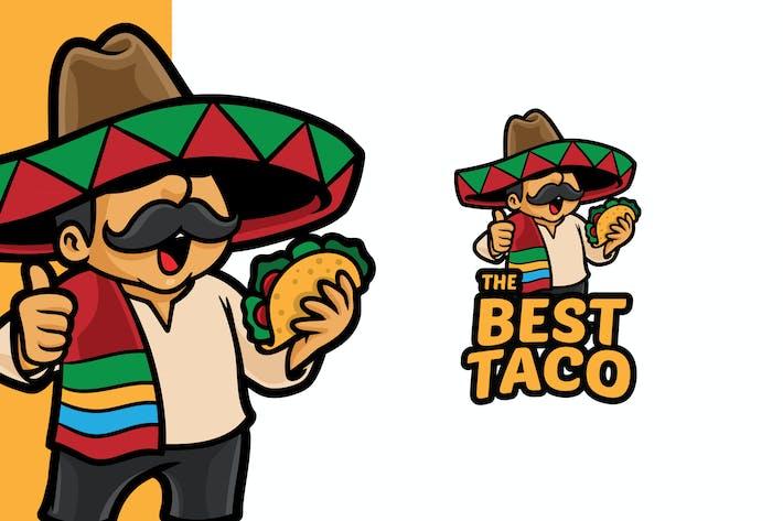Thumbnail for Best Taco Logo Mascot Template