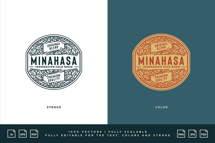 Coffee Logo - Minahasa Indonesian Cold Brew
