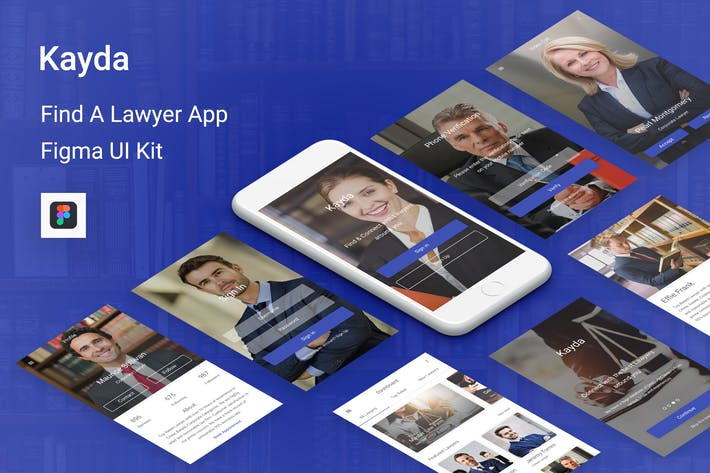 Thumbnail for Kayda - Find A Lawyer UI Kit for Figma
