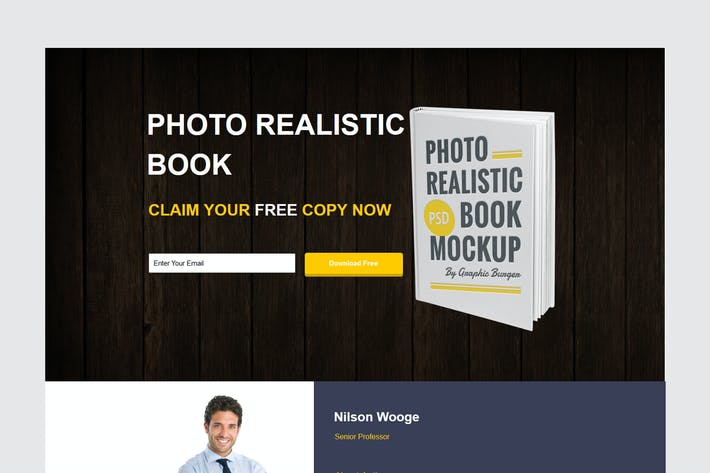 Thumbnail for Ebook Unbounce Template