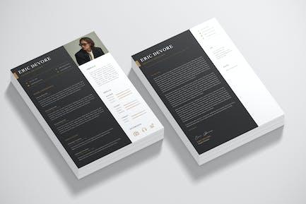 Mordern CV Resume& Cover Letter Template