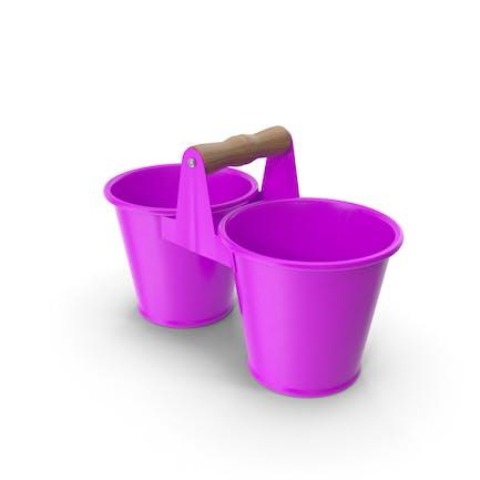 Twin Pot Purple