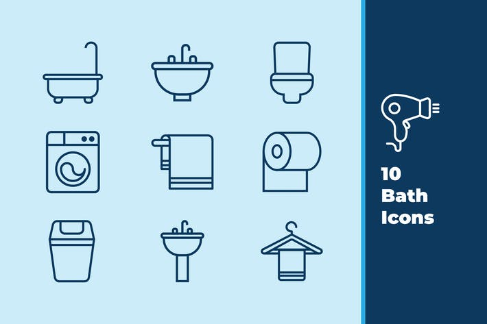 Thumbnail for Bathroom Icons
