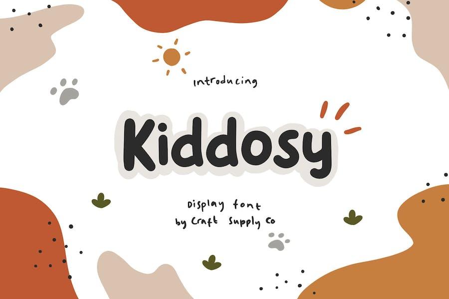 Kiddosy - Playful Display Font