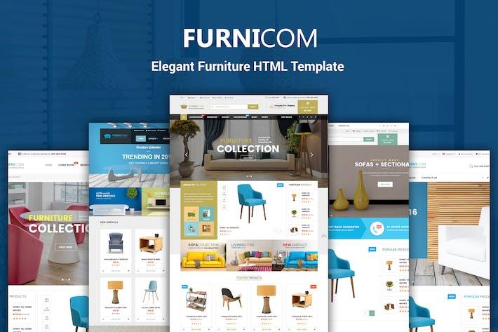 Thumbnail for Furnicom - Furniture & Interior HTML Template