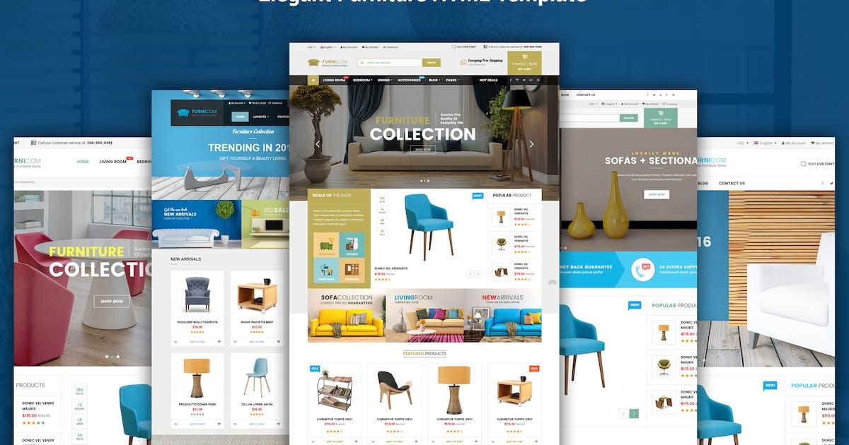 Download Furnicom - Furniture & Interior HTML Template by magentech