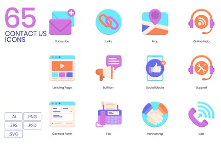 65 Contact Us Icons