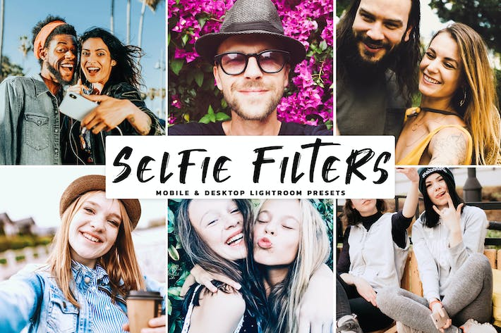 Thumbnail for Selfie Filters Mobile & Desktop Lightroom Presets