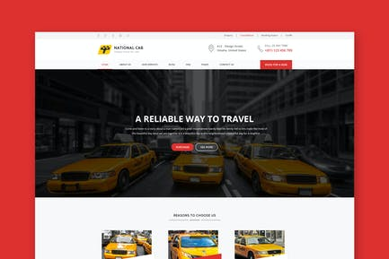TaxiCab - Taxi Company HTML Template