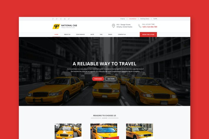 Thumbnail for TaxiCab - Taxi Company HTML Template