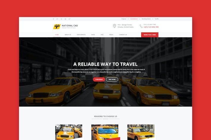 Thumbnail for TaxiCAB - Plantilla HTML de la compañía de taxis
