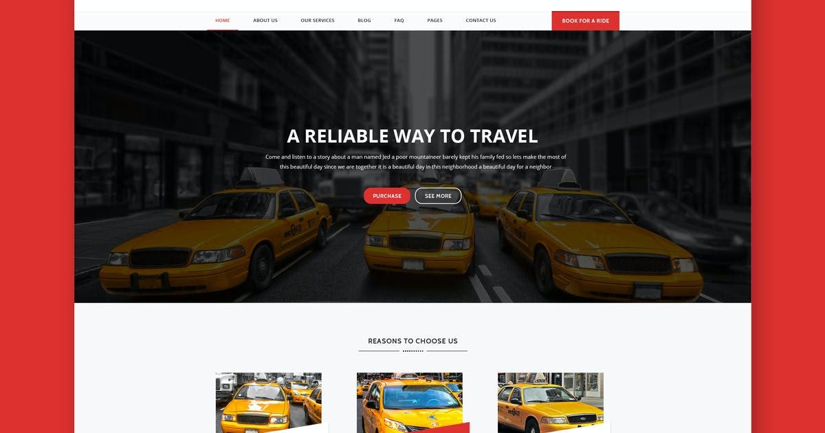 Download TaxiCab - Taxi Company HTML Template by PremiumLayers