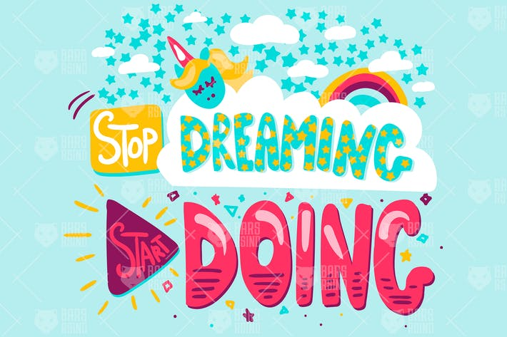 Cover Image For Inspire Quote - Stop Dreaming Start Doing