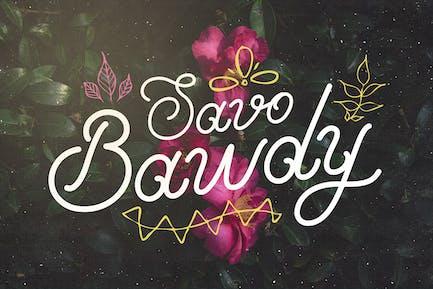 Savo Bawdy - Курсивный шрифт