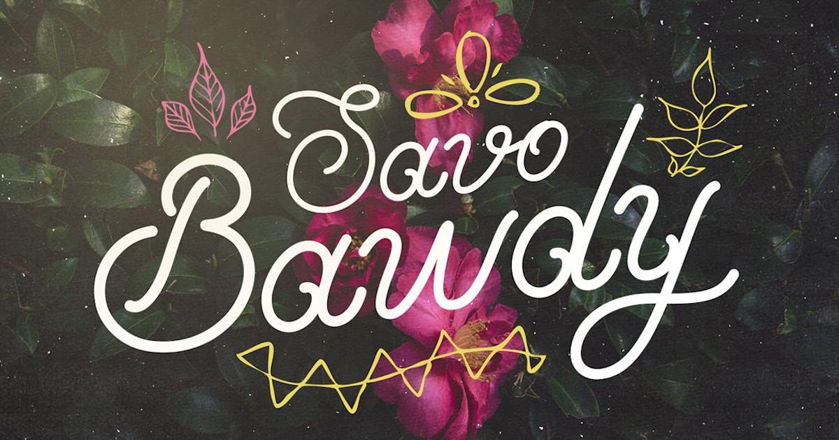 Download Savo Bawdy - Cursive Typeface by Layerform