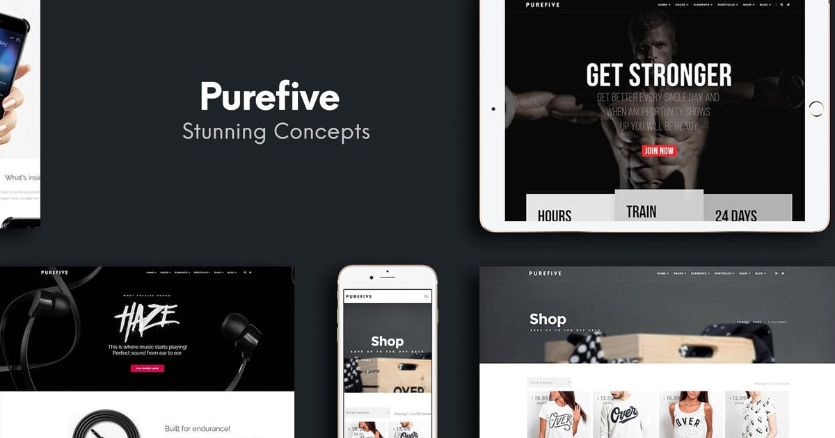 Download Purefive - Multipurpose WordPress Theme by createdbycocoon
