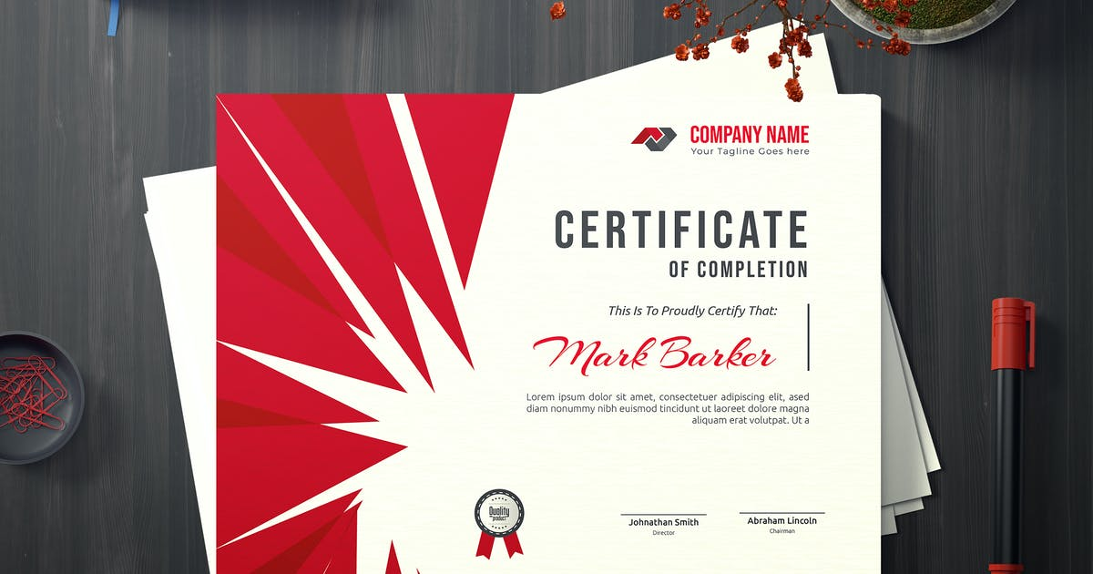 Download Certificate by curvedesign