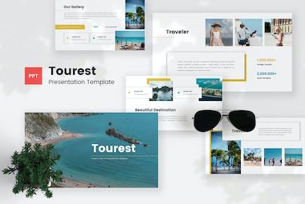 Tourest - Путешествия и туризм PowerPoint Шаблон