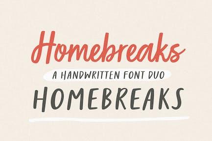 HomeBreaks | Un Duo de polices manuscrites