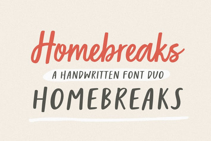 Homebreaks | A Handwritten Font Duo