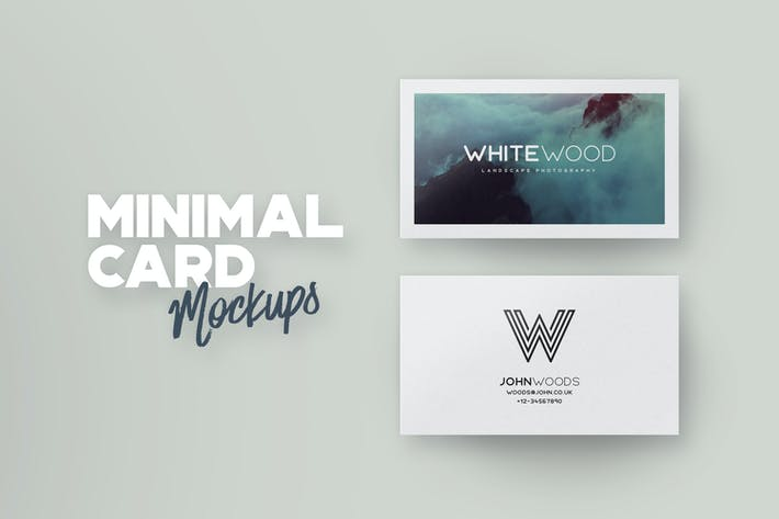 Thumbnail for Minimal Card Mockups
