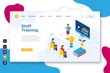 Staff Training - Web & Mobile Landing Page