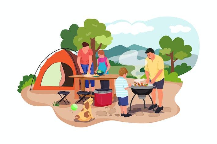 Thumbnail for Happy family at a picnic