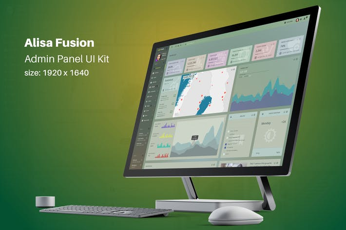 Cover Image For Alisa Fusion - Responsive Admin Template