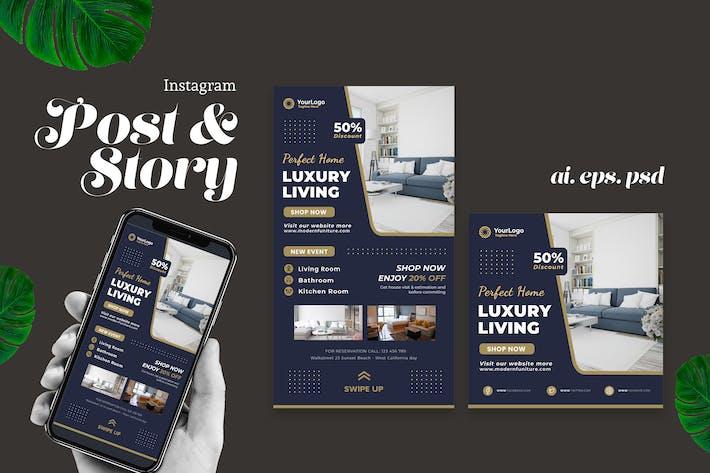 Luxus Living Interior Instagram Story Post