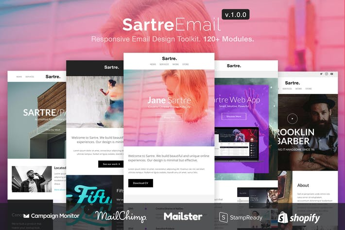 Thumbnail for Sartre - Responsive Email Design Toolkit