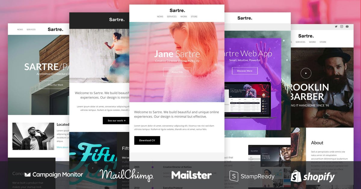 Download Sartre - Responsive Email Design Toolkit by ThemeMountain